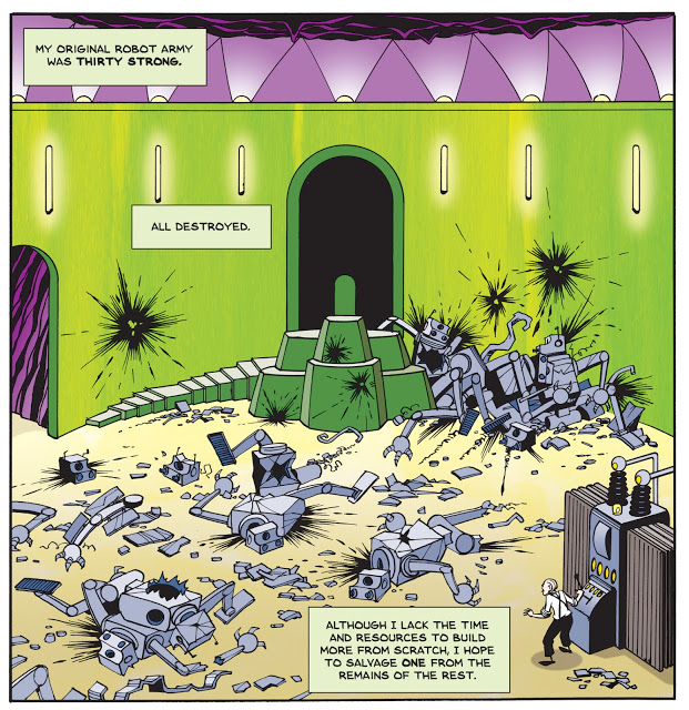 A panel from the color version of The Last Mechanical Monster.(img: Brian Fies)